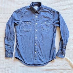 Timberland Mens Grey/Blue Long Sleeve Button Up